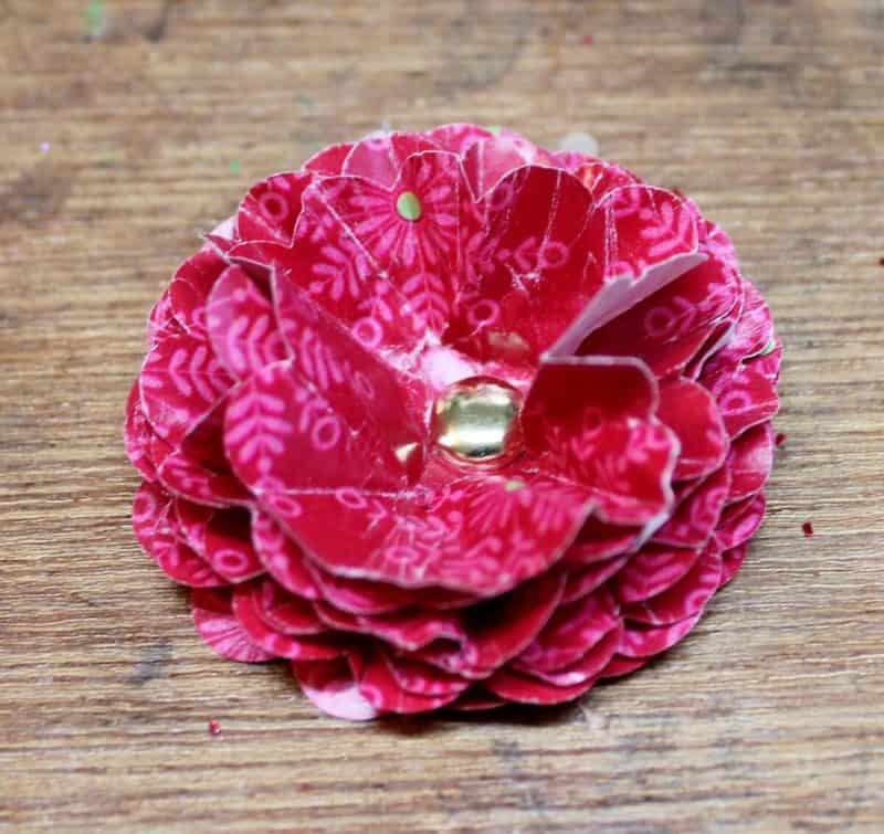 How To Make Super Simple Vintage Paper Punch Flowers Adirondack