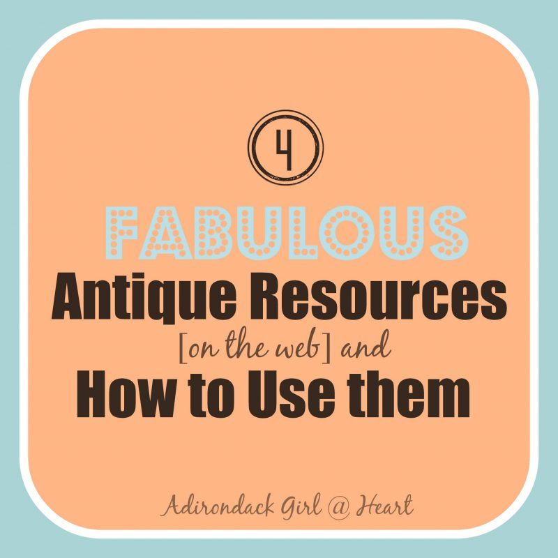 4 Fabulous Antique Resources on the Web