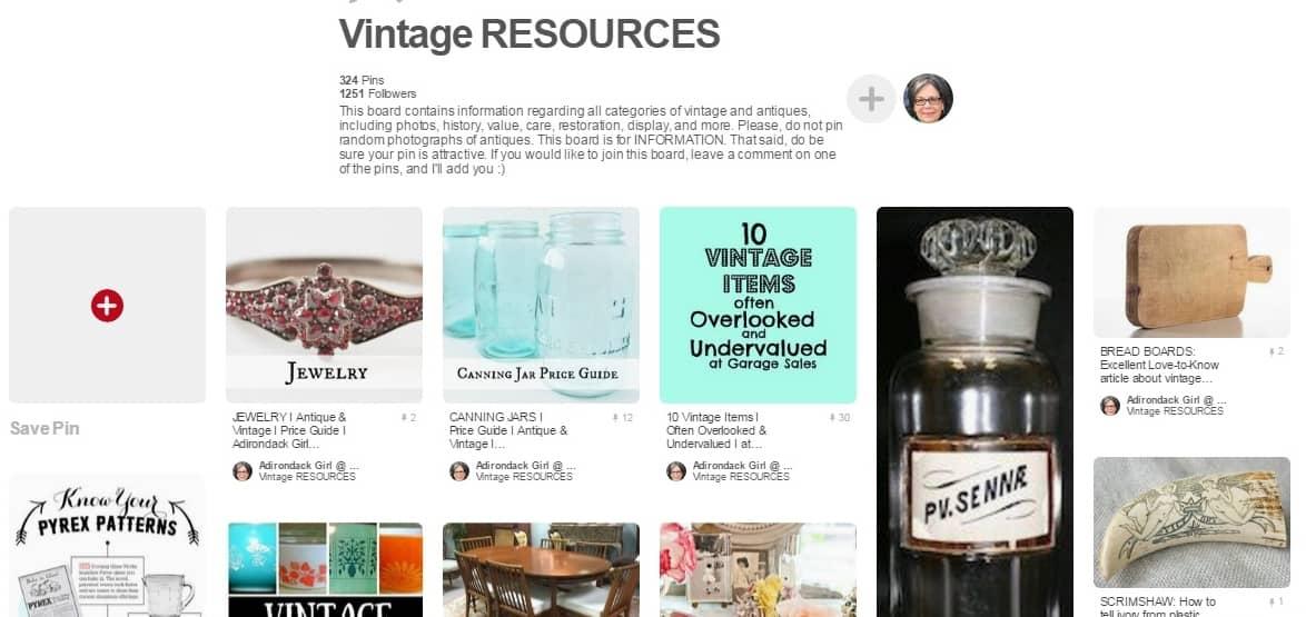 Antique Vintage Resources Pinterest