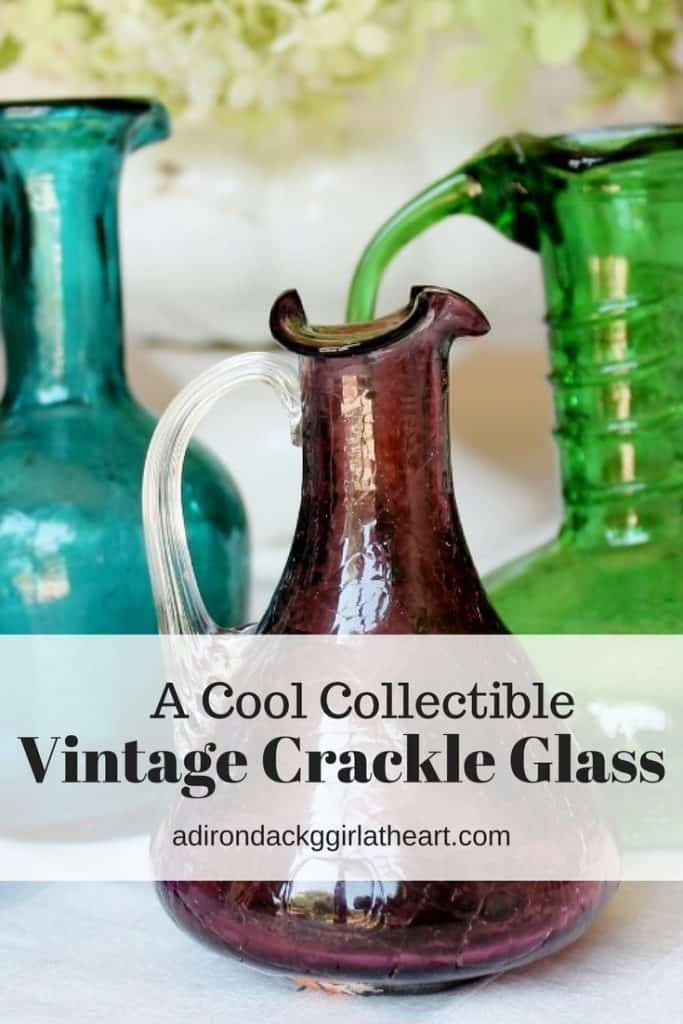 a cool collectible vintage crackle glass adirondackgirlatheart.com