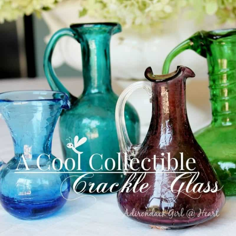 a cool collectible vintage crackle glass