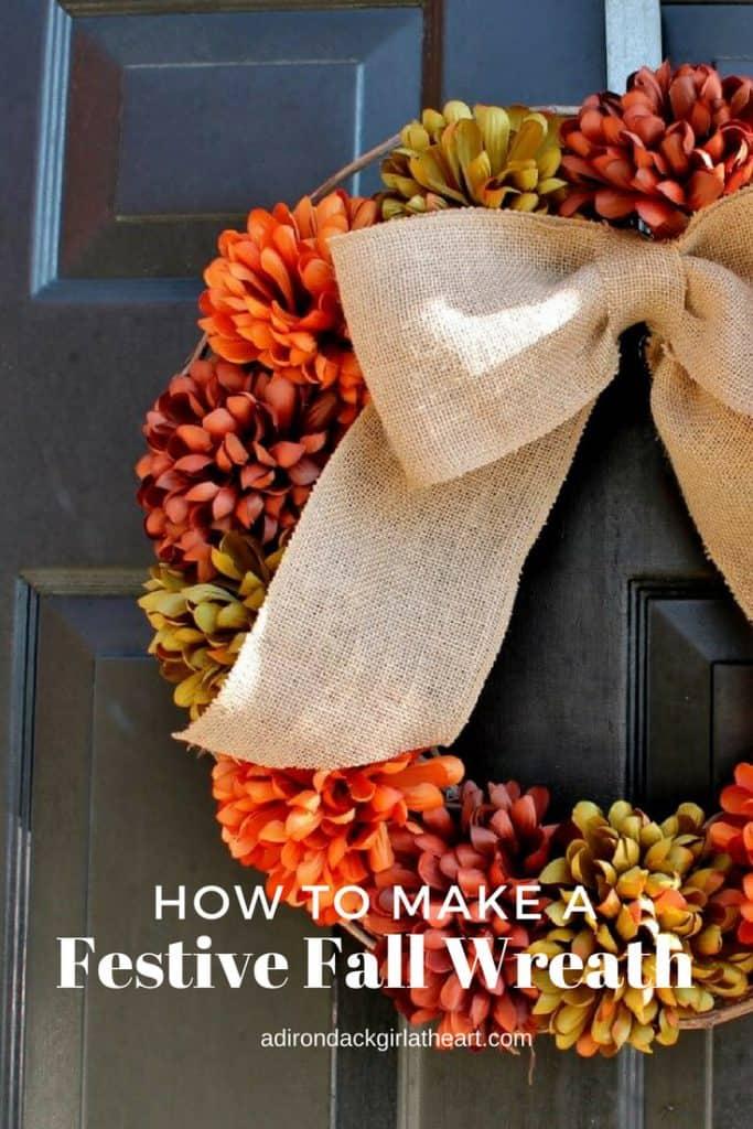 How to Make a Festive Fall Wreath adirondackgirlatheart.com
