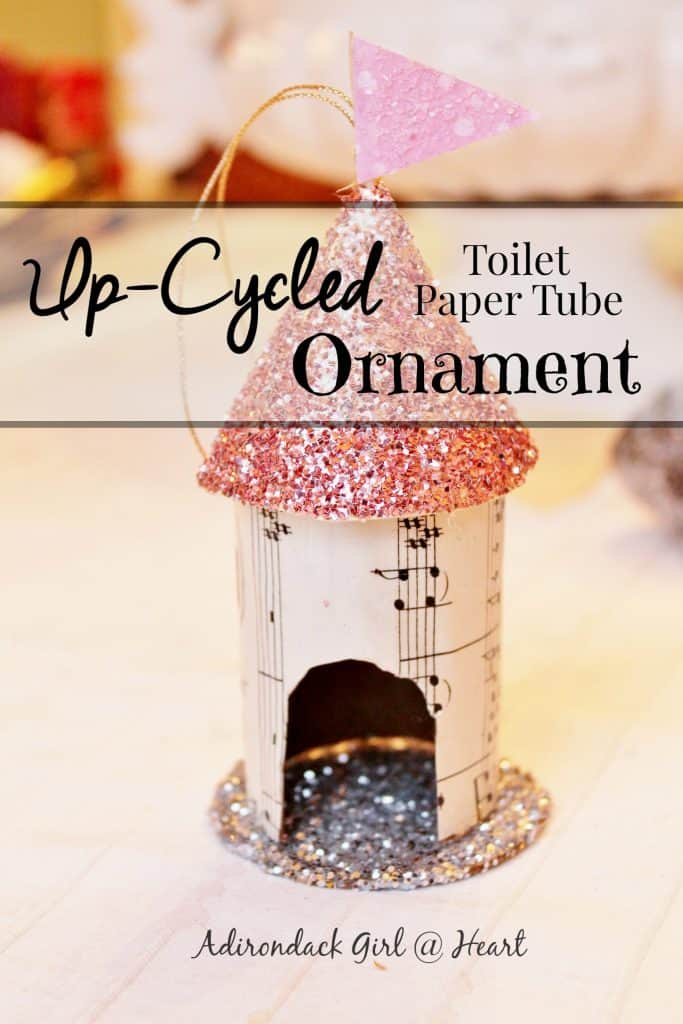 Up Cycled Toilet Paper Tube Christmas Ornament