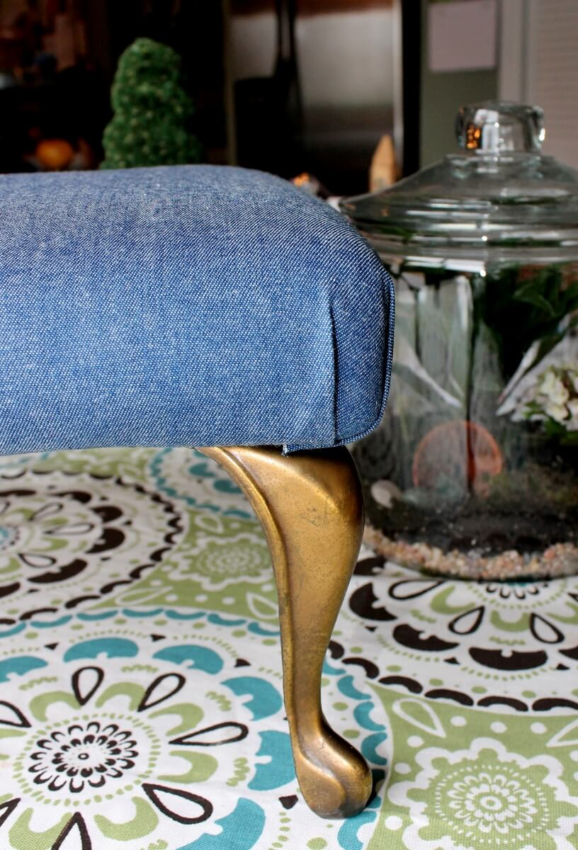 How to recover a vintage style denim stool (10) (816x1200)
