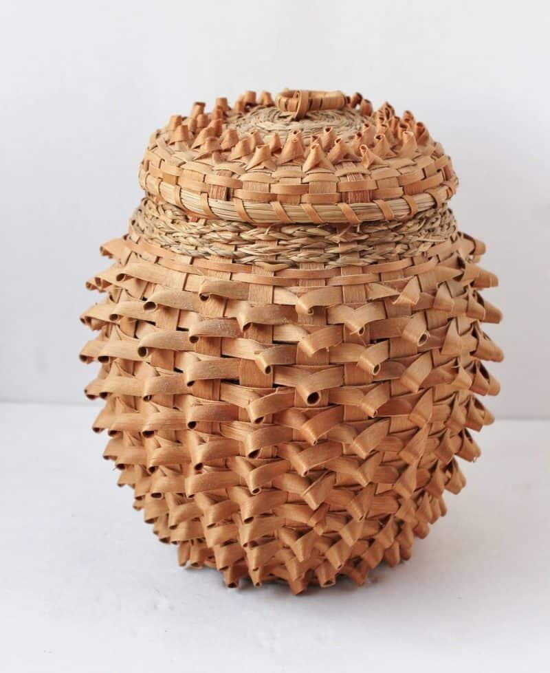 Native American ash splint basket