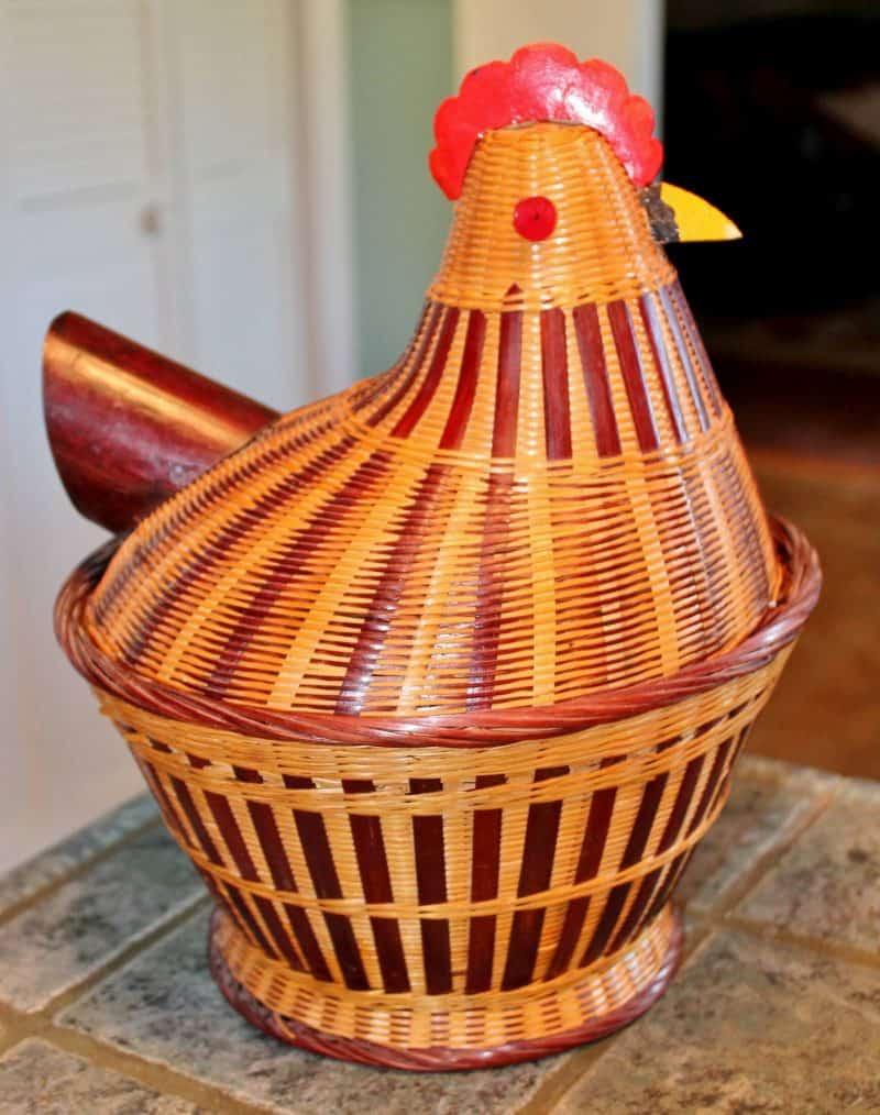 vintage chicken basket