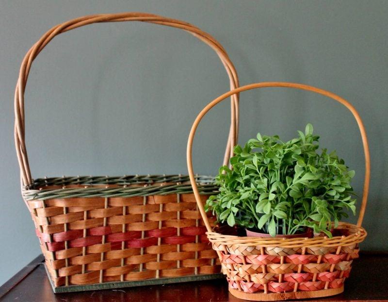 vintage easter baskets