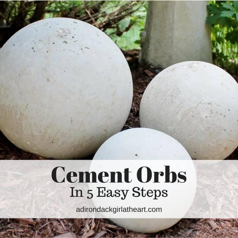 Create Your Own Concrete Orbs In 5 Easy, Concrete Garden Orbs Diy