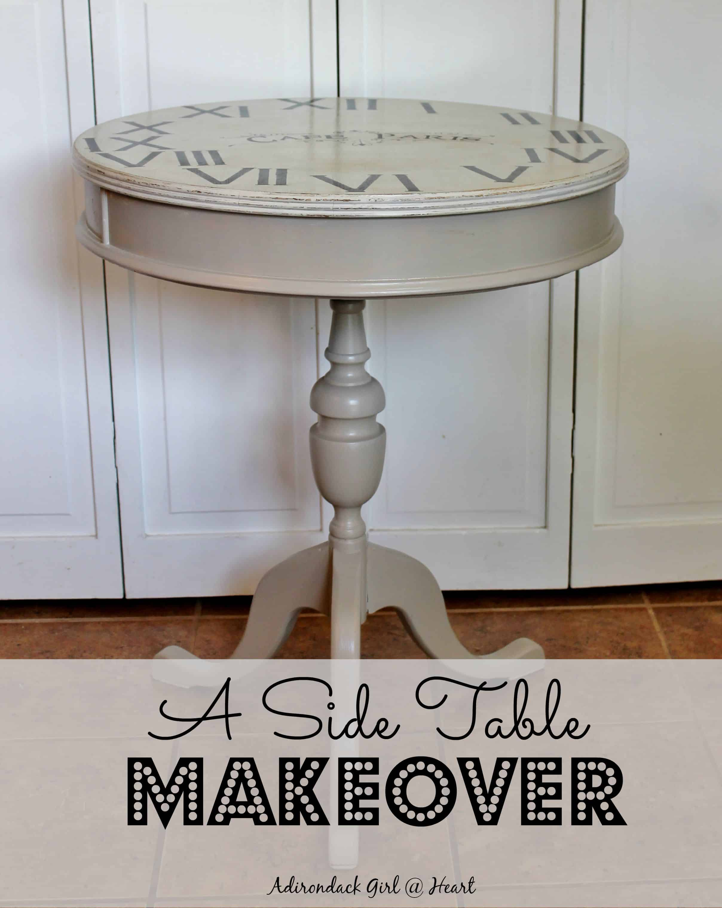 A Side Table Makeover & Wax Recipe Adirondack Girl Heart