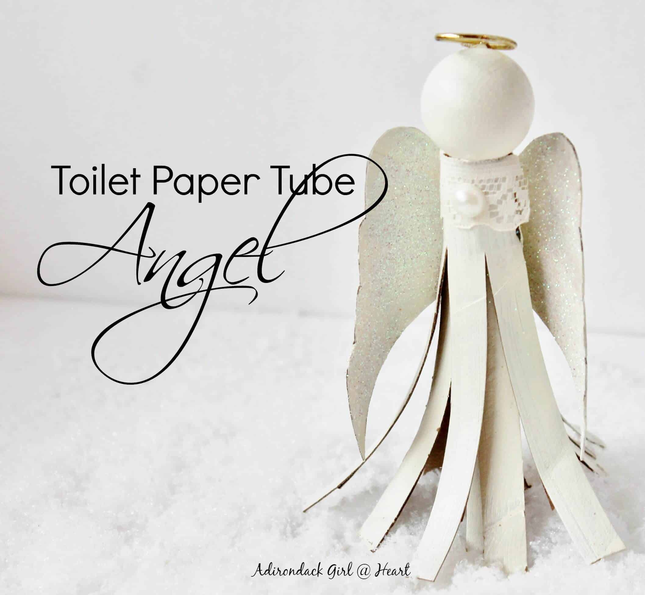 How to make a toilet paper tube angel ornament for Toilet paper roll challenge