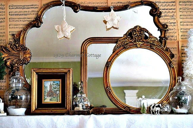 Mirrored Mantel from My 1929 Charmer