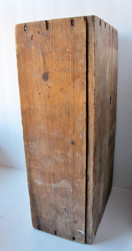 Side of Vintage crate