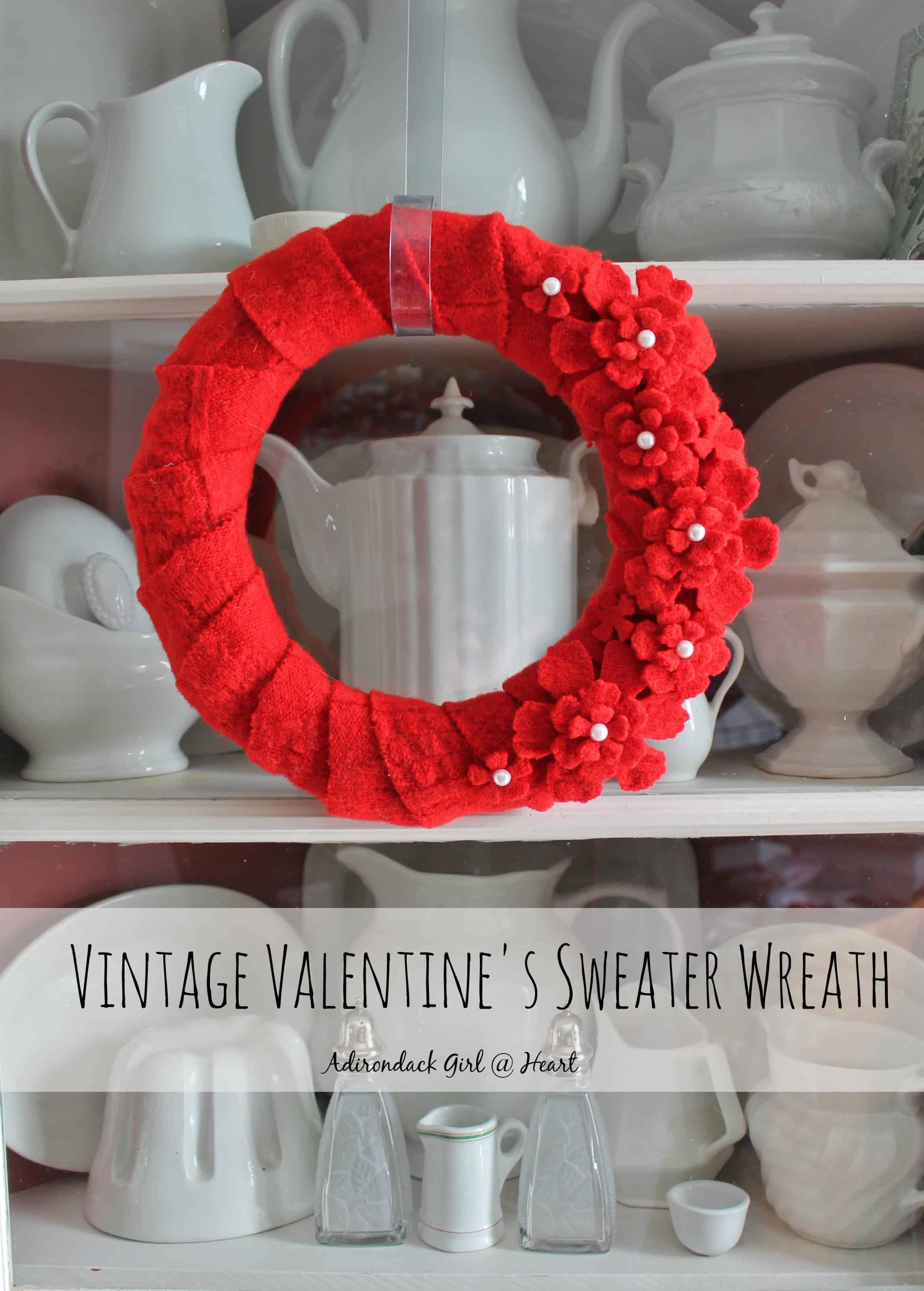 Valentine's Wreath at Adirondack Girl @ Heart