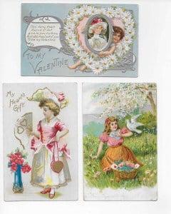 Antique valentine postcards