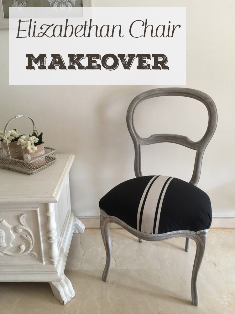 elizabethan chair makeover at My Sweet Things