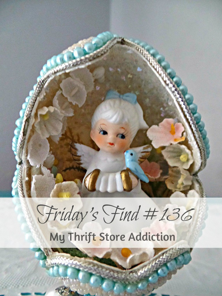 Friday Finds--angel in egg at My Thrift Store Addiction