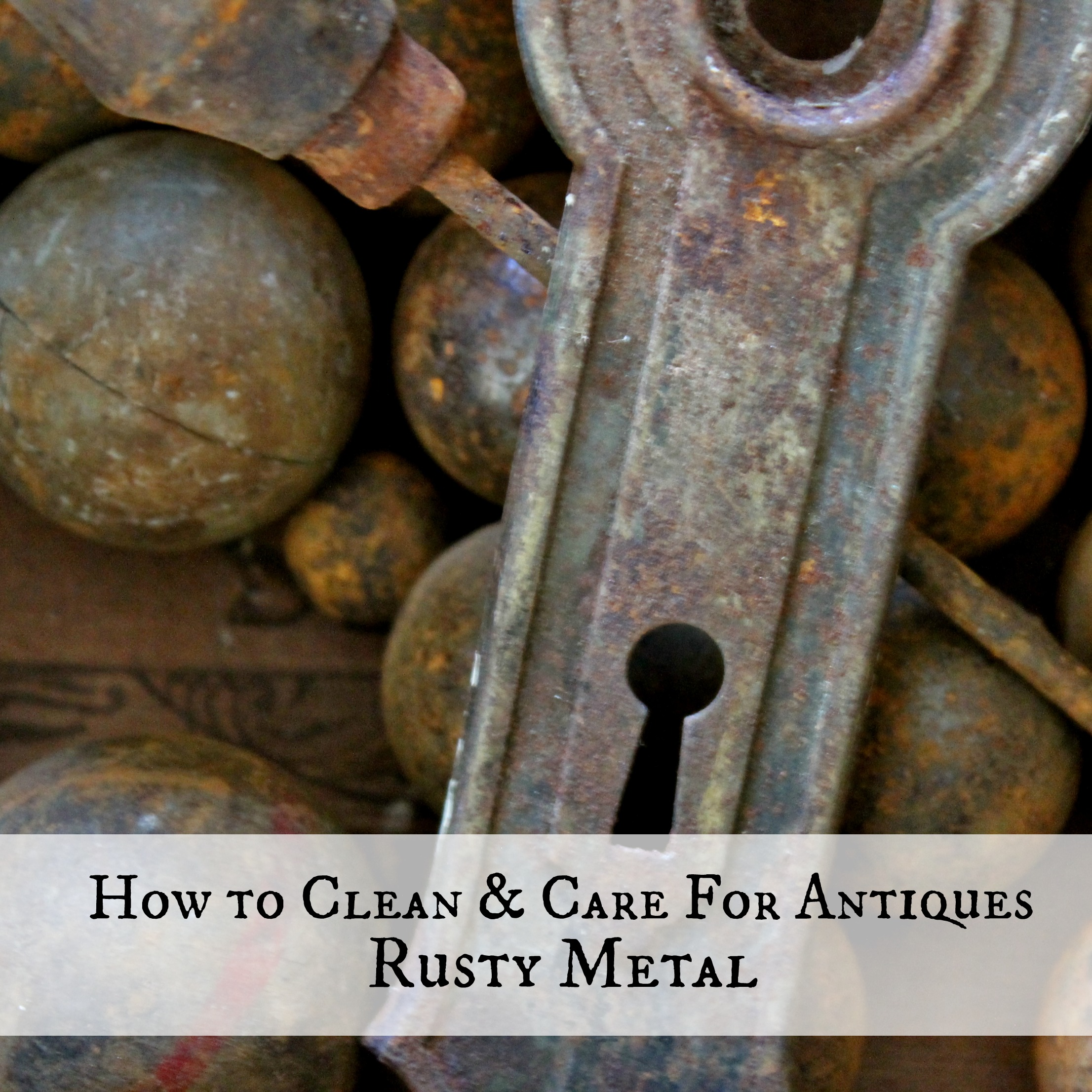 how to clean care for antiques rusty metal adirondack girl heart. Black Bedroom Furniture Sets. Home Design Ideas