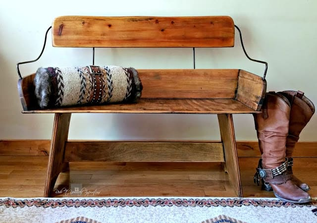horse carriage bench seat makeover Redo It Inspirations Tuula's #34