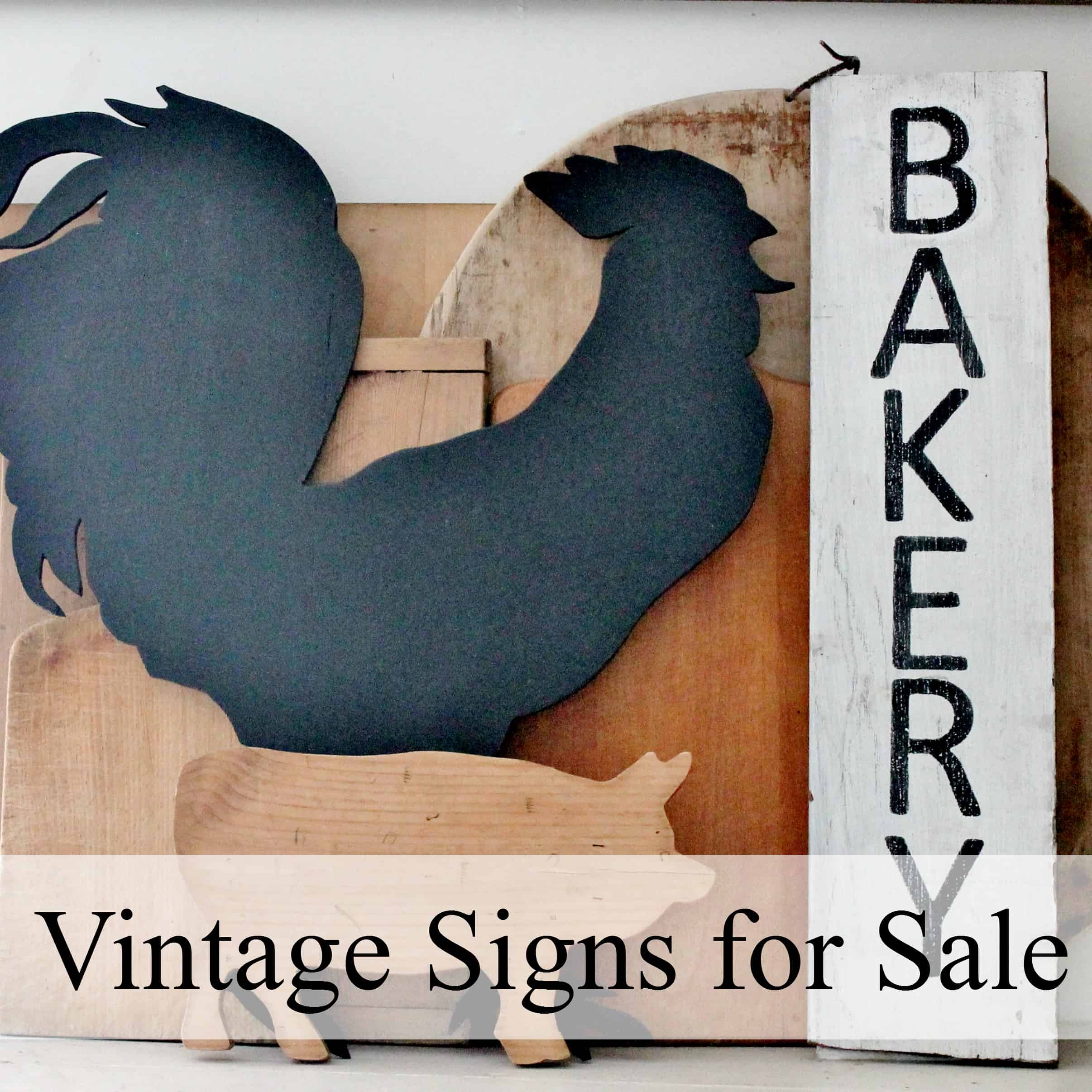 vintage signs hand painted stencil for sale