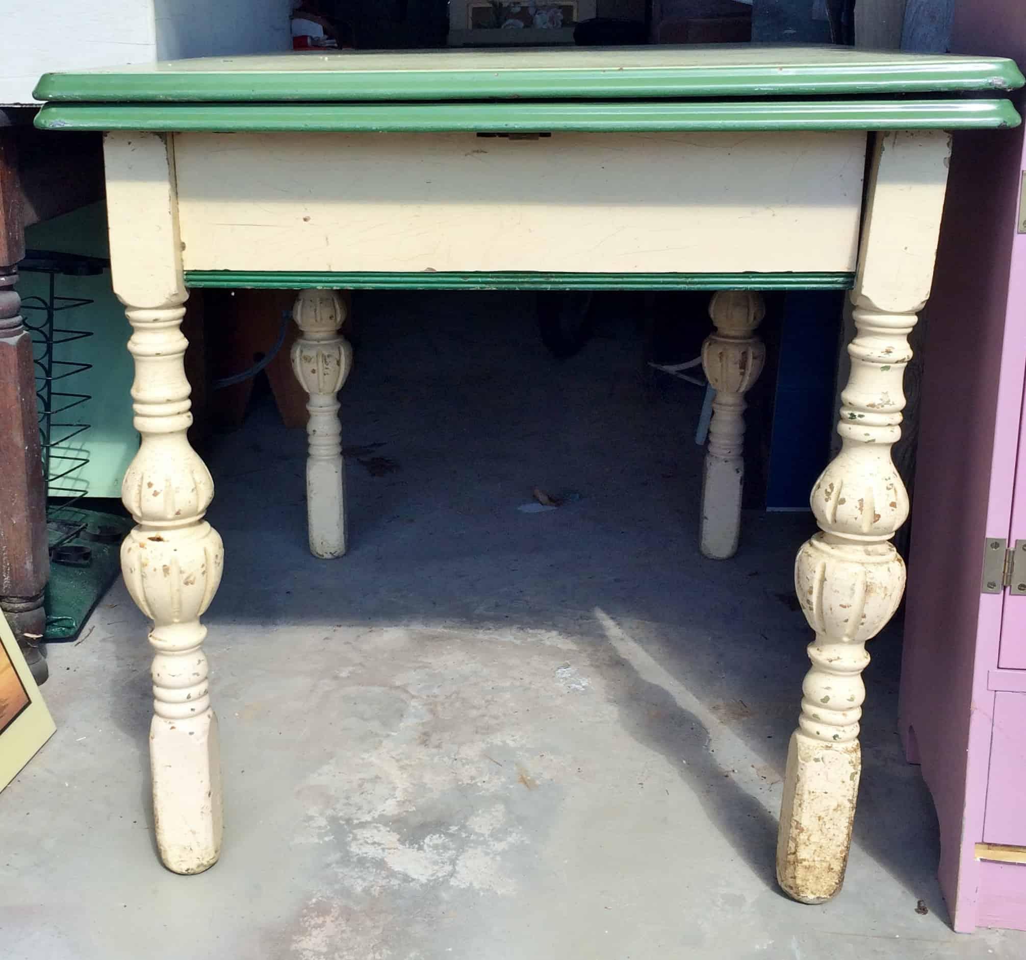Antique Enamel-top Kitchen Table • Adirondack Girl @ Heart