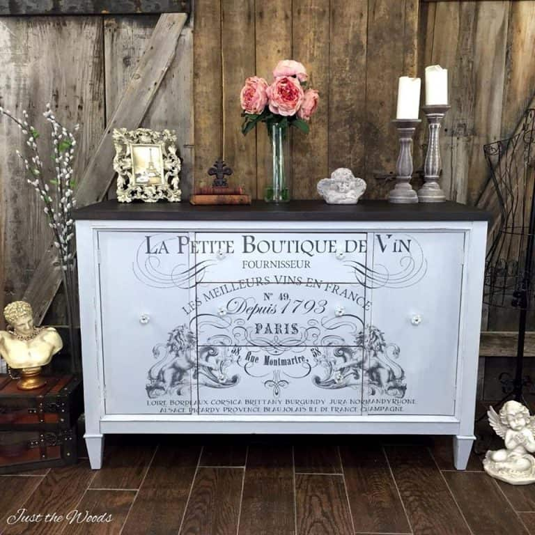 Gorgeous painted buffet with graphic design
