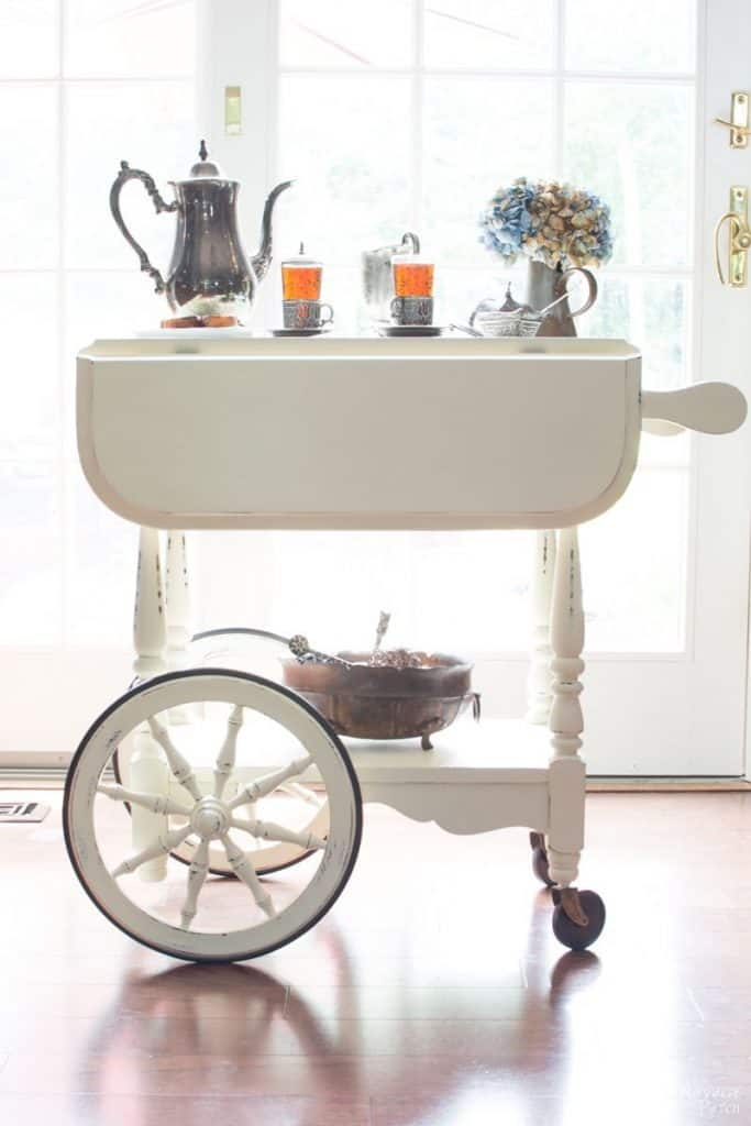 Beautiful tea cart makeover by Navage Patch