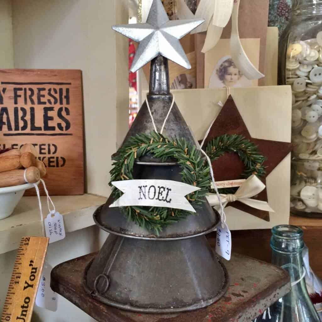 vintage funnel christmas tree