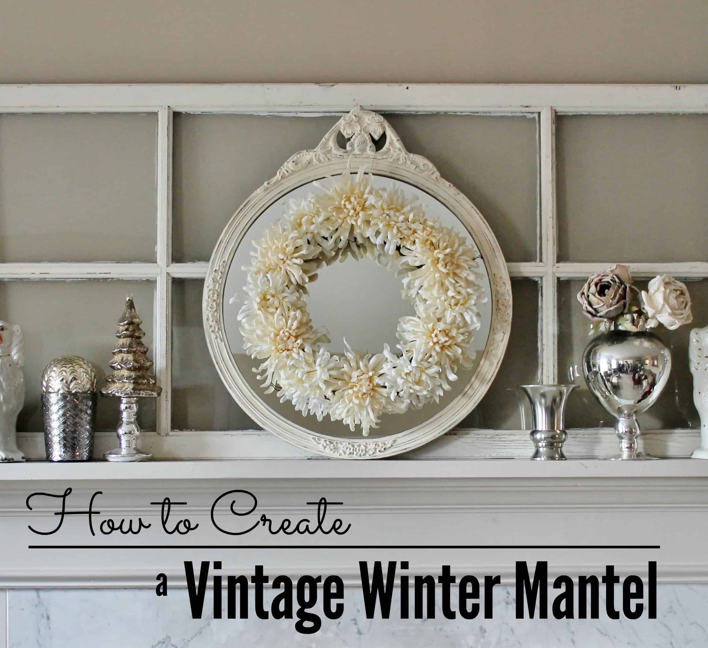 winter mantel at Adirondack Girl @ Heart