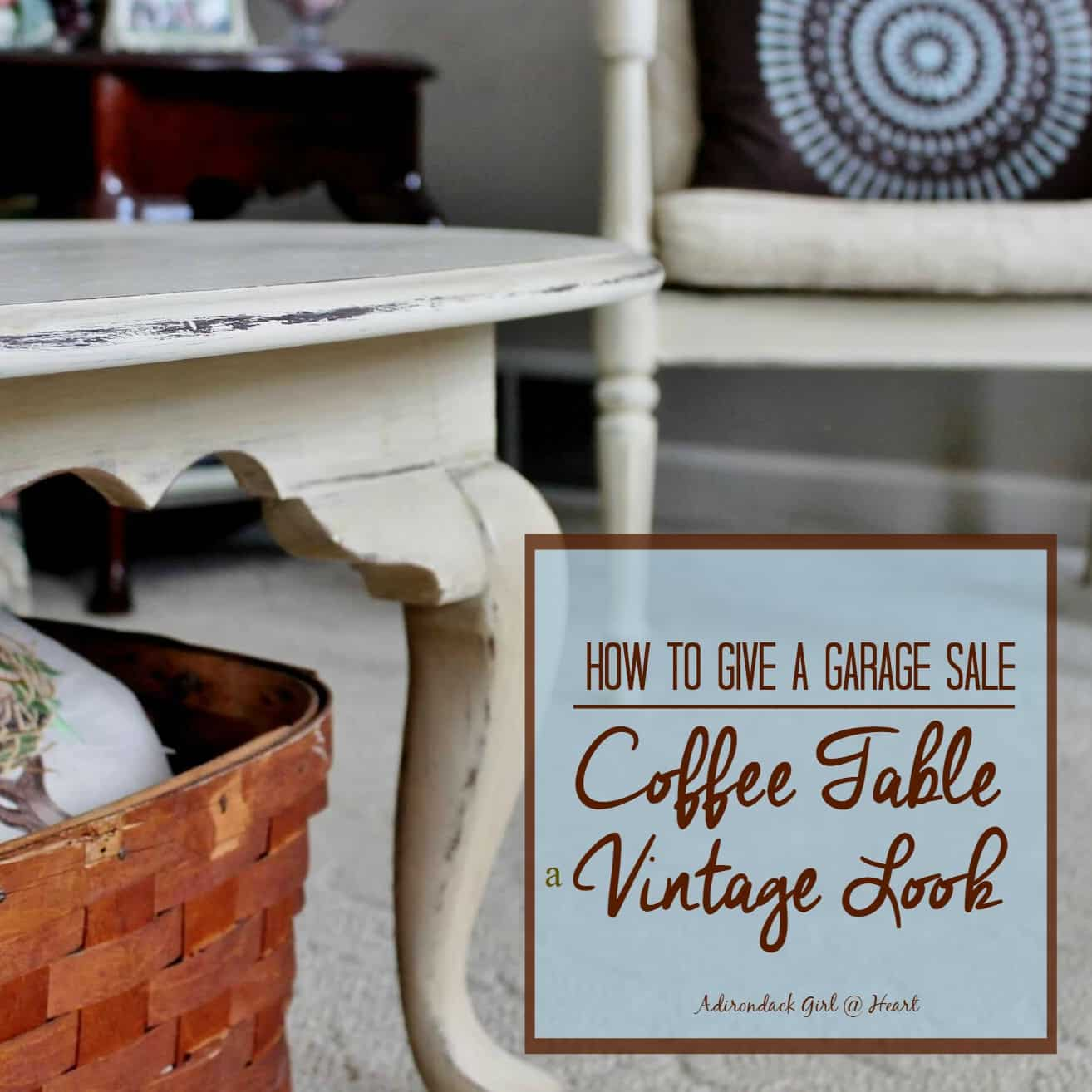 Estate Sales Near Me This Weekend: How To Give A Garage Sale Coffee Table A Vintage Look