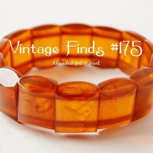 Vintage Apple Juice Bakelite Stretch Bracelet