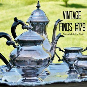 silver plated tea set vintage find