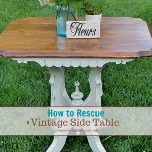 How to Rescue a Vintage Side Table