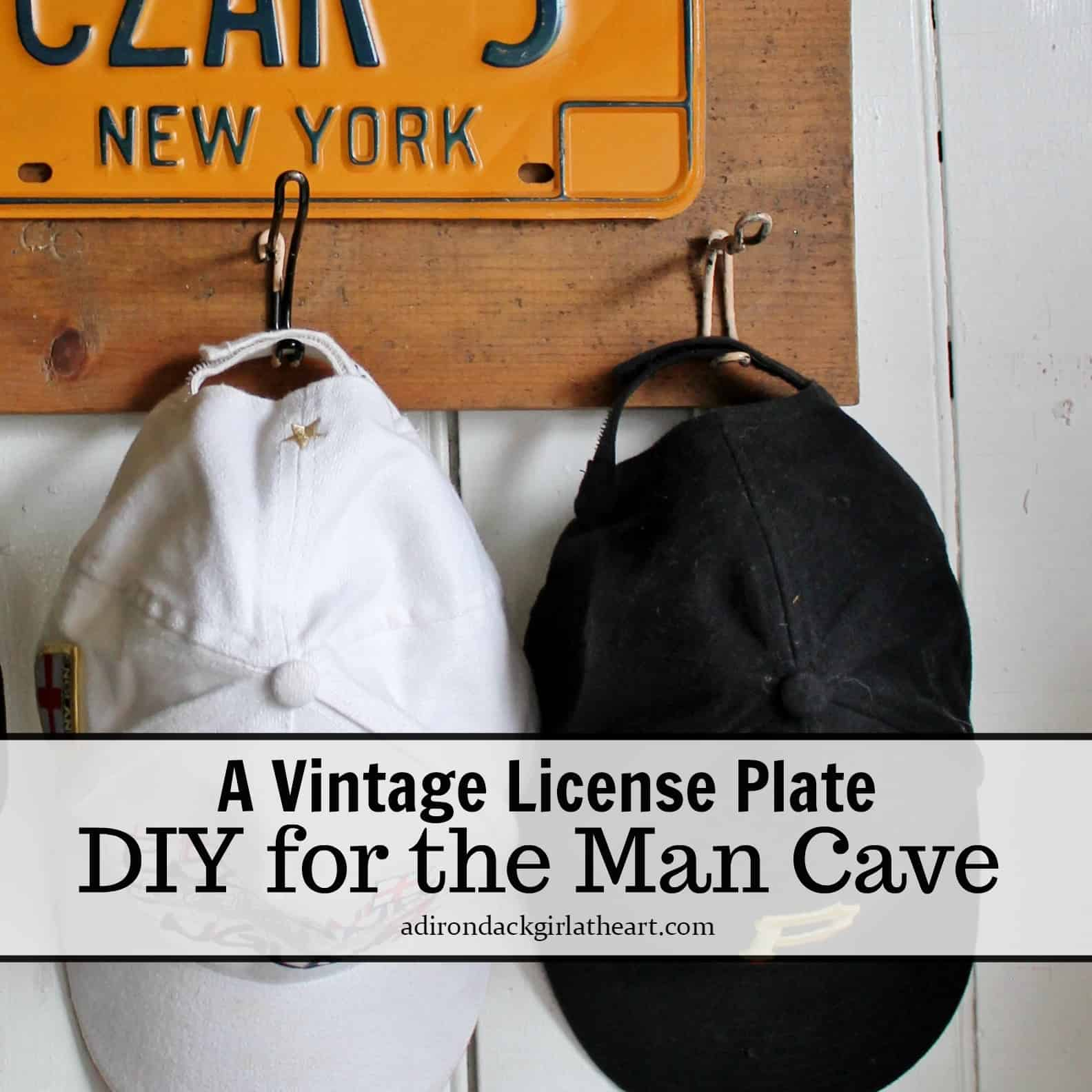 A Vintage License Plate Diy For The Man Cave Adirondack Girl Heart