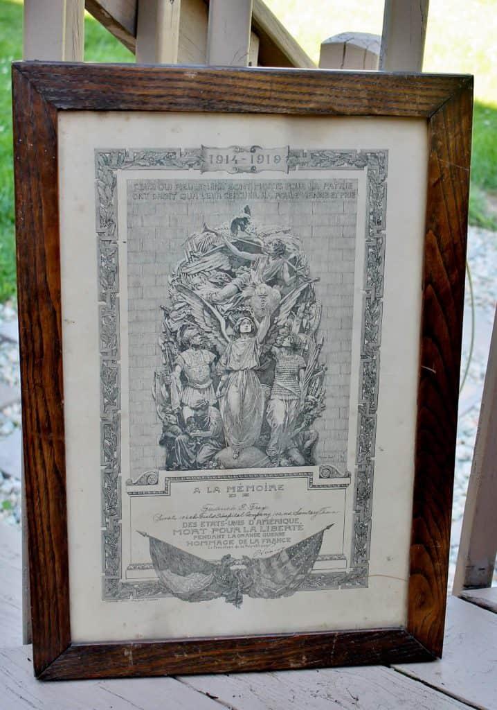 french certificate in antique oak frame