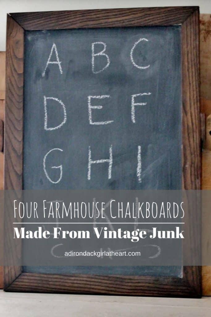 four farmhouse chalkboards