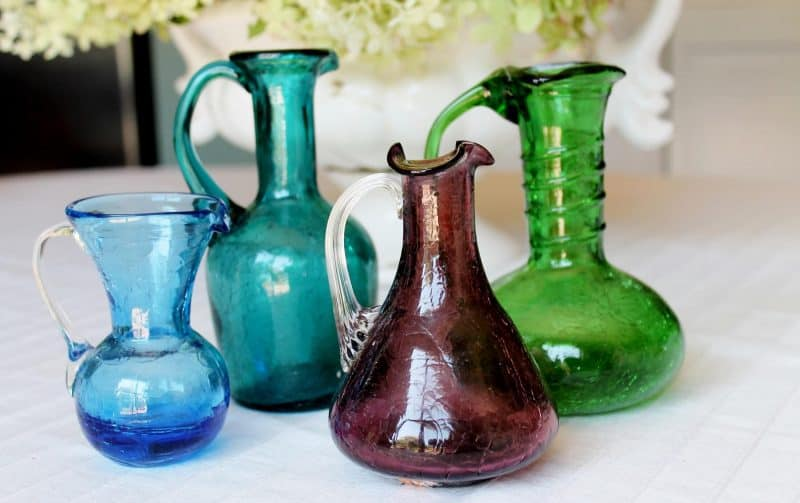 vintage crackle glass collection