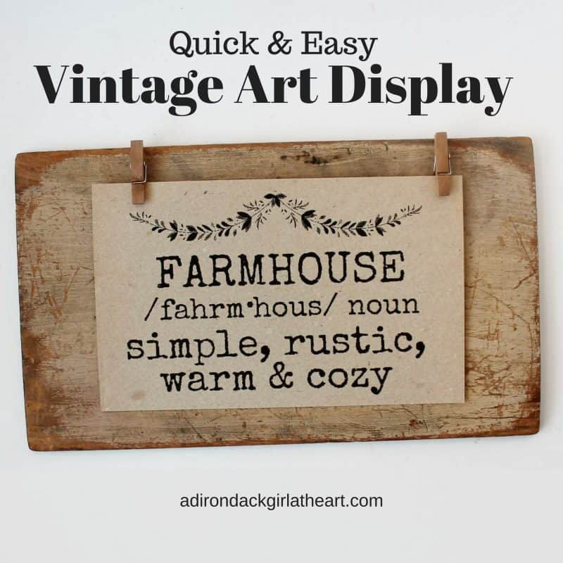 quick and easy vintage art display adirondackgirlatheart.com