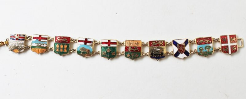 vintage enamel canadian flag bracelet