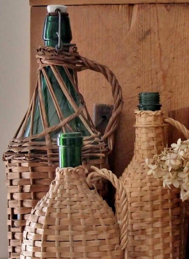 Rattan Wrapped Bottles