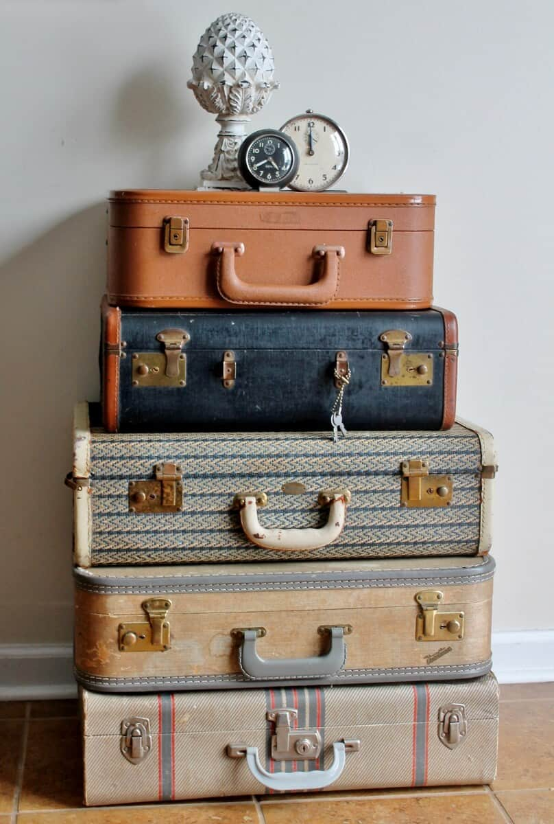 How to clean care for antiques vintage luggage - Vintage suitcase ...