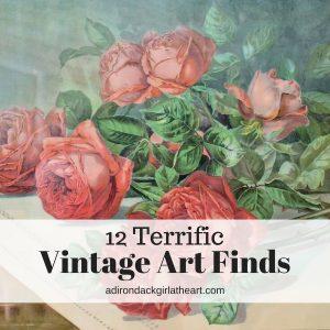 12 Terrific Vintage Art Finds adirondackgirlatheart.com