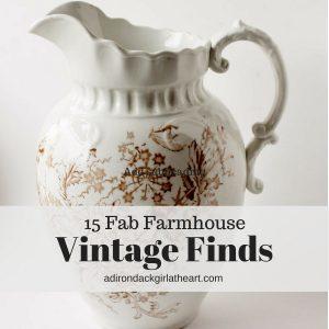 15 FabFarmhouse Vintage Finds adirondackgirlatheart.com