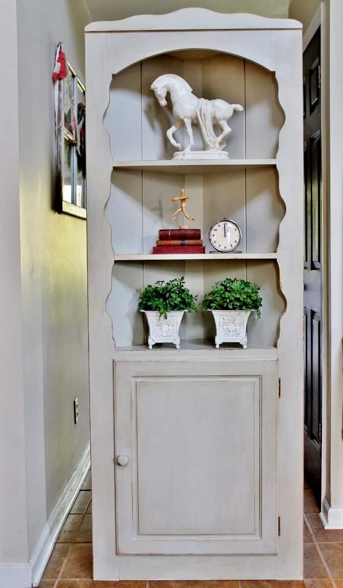 Corner Cupboard after vintage-style makeover (700x1200)