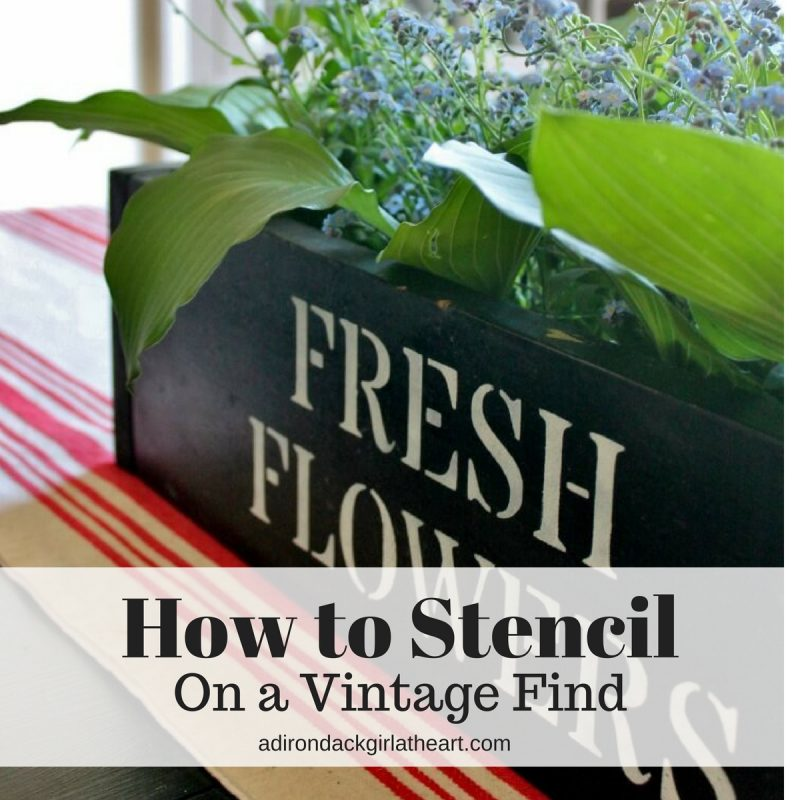 How to Stencil on a Vintage Find adirondackgirlatheart.com