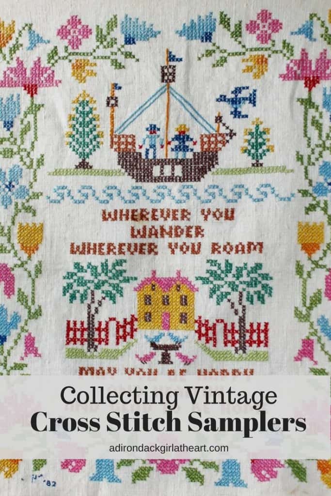 Collecting Vintage Cross Stitch Samplers 2 adirondackgirlatheart.com