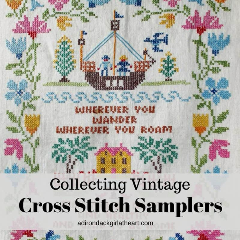 Collecting Vintage Cross Stitch Samplers