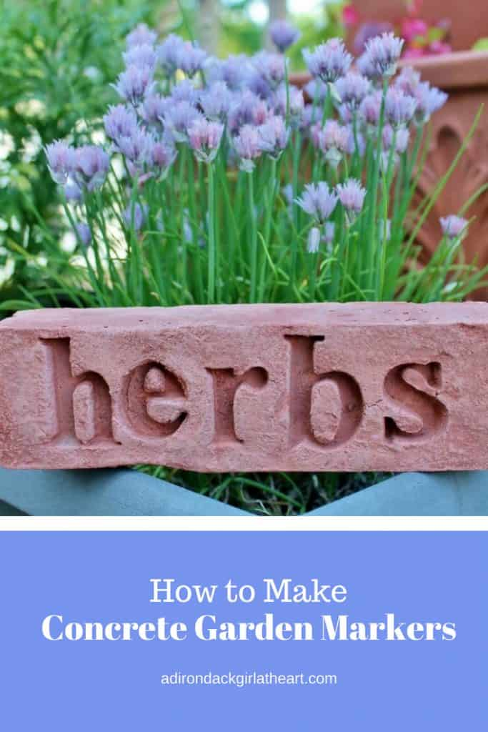 How to Make Concrete Garden Markers adirondackgirlatheart.com 3