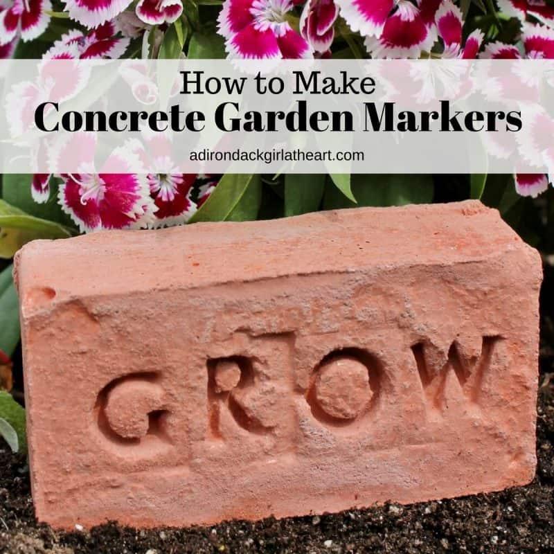 How to Make Concrete Garden Markers adirondackgirlatheart.com