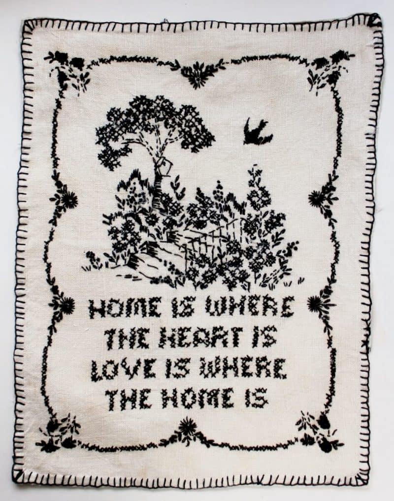 Collecting Vintage Cross Stitch Home is Where the Heart is (943x1200)