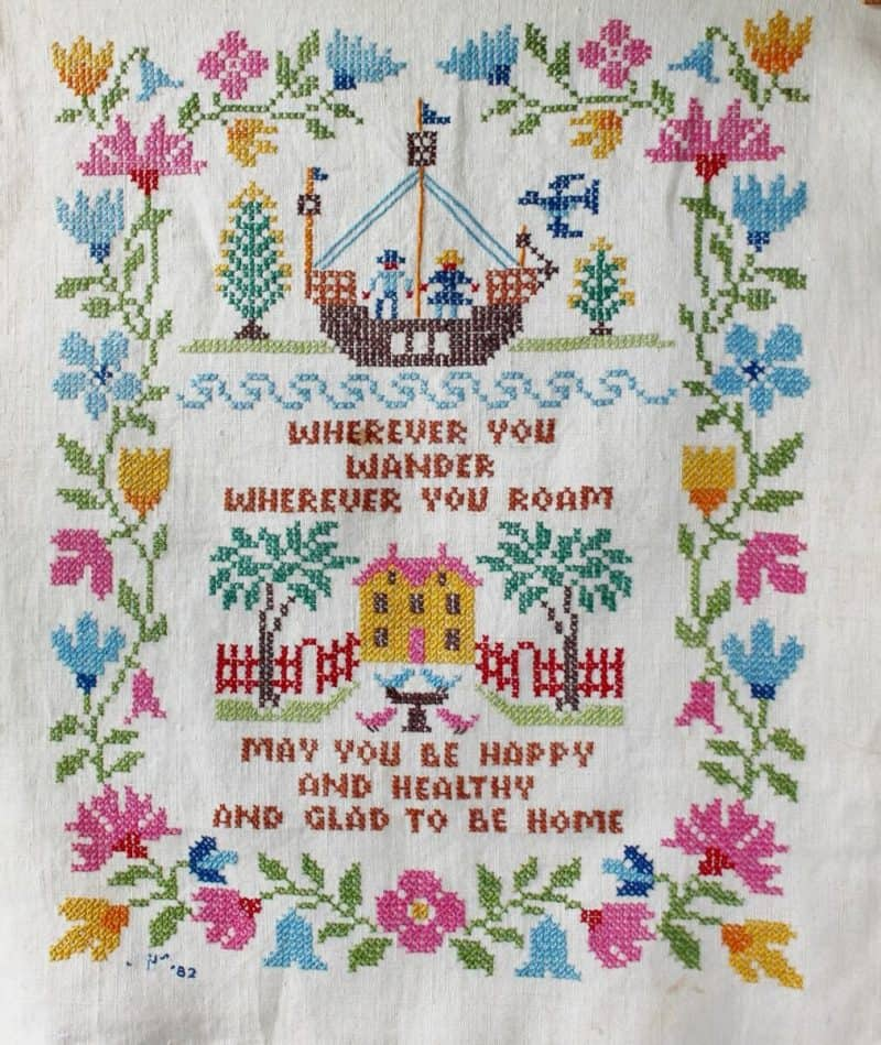 Collecting Vintage Cross Stitch Wherever You Wander (1012x1200)